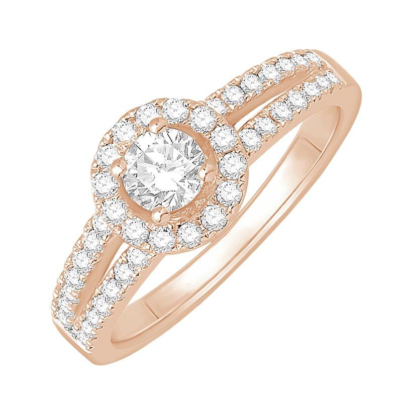 18k Rose Gold Diamond Solitaire Ring , Fazia 0.30 Ct