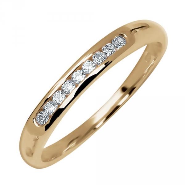 Lovisa Demi alliance Or jaune et diamants Diveene joaillerie