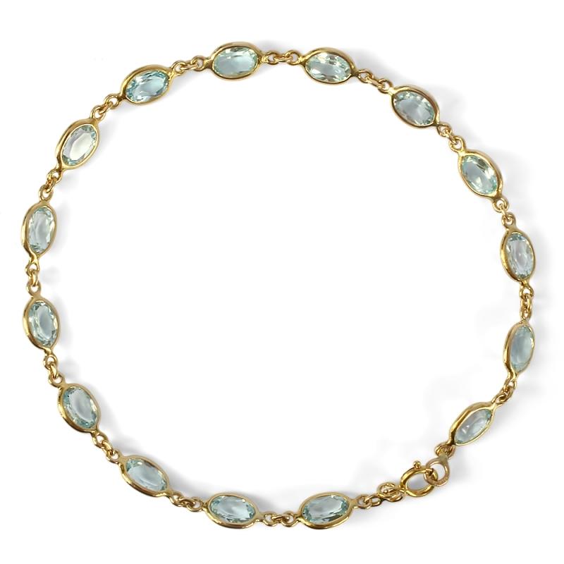 Bracelet en or, Topazes bleues , Luçiole