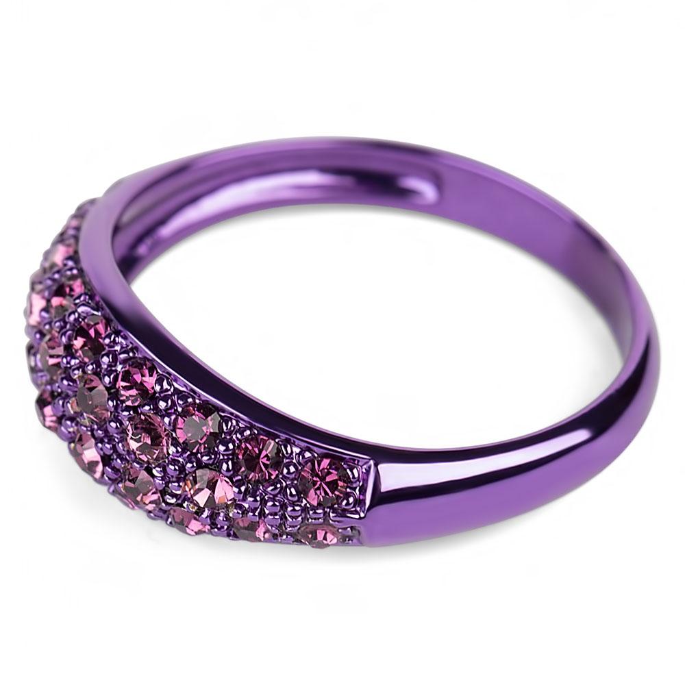 bague violet en argent cristal swarovski glossy m. Black Bedroom Furniture Sets. Home Design Ideas