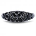 Glossy bague argent et cristal swarovski - Diveene joaillerie