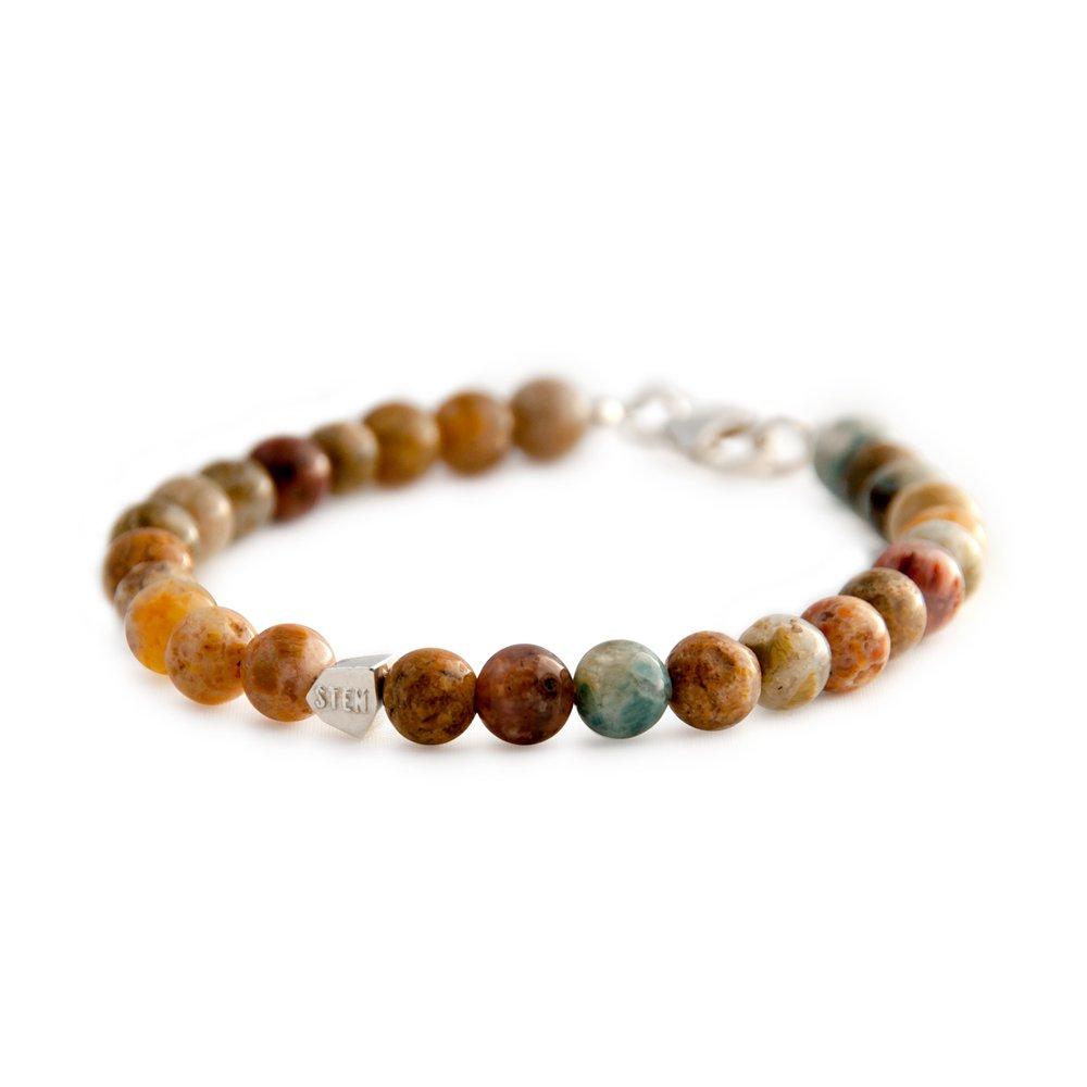 bracelet sten agate indienne et argent diveene joaillerie