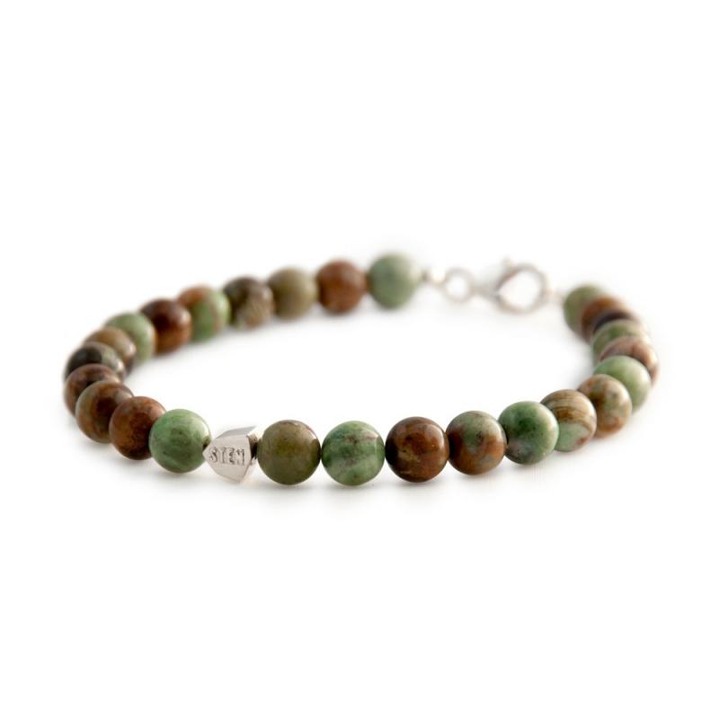 Bracelet Jade Africaine, Argent , African Jade
