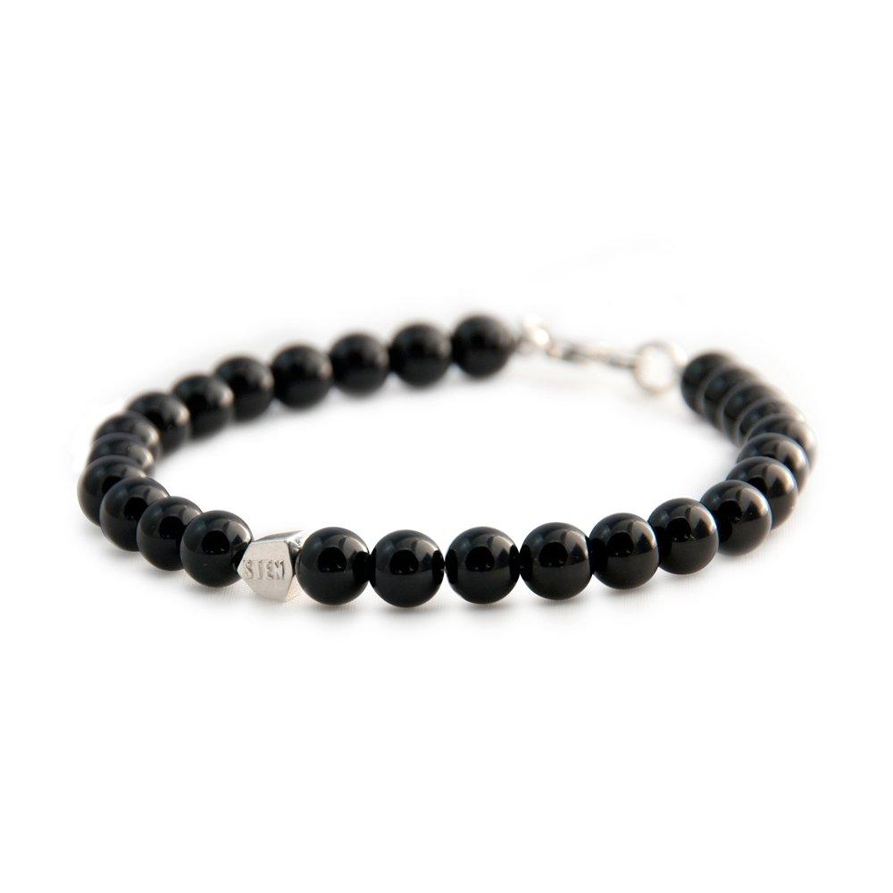 bracelet sten agate noire et argent diveene joaillerie