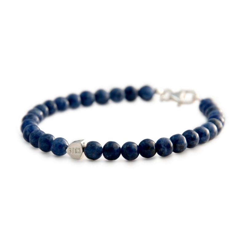 Bracelet Dumortiérite, Argent , Dumortiérite