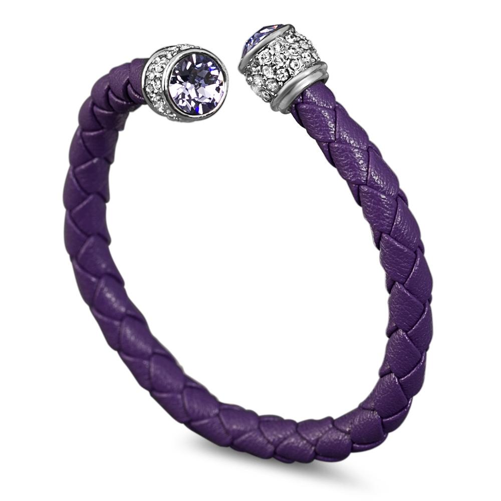 Bracelet esclave cuir et swarovski