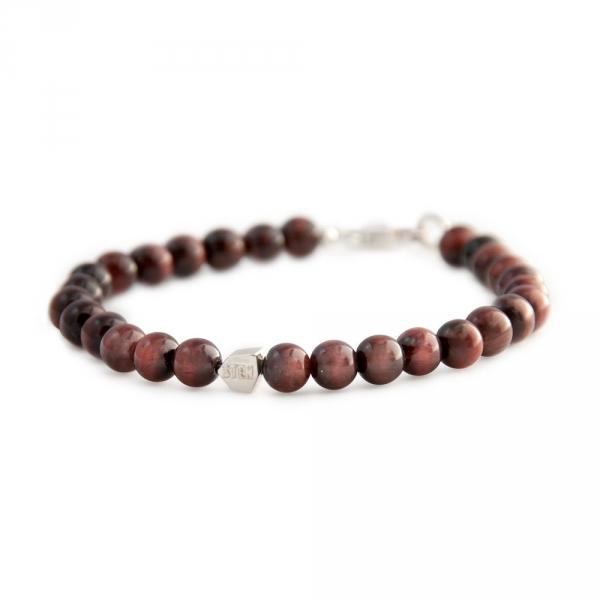 bracelet sten oeil de tigre et argent diveene joaillerie bracelet marron