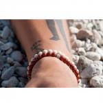 bracelet sten jaspe rouge et argent diveene joaillerie bracelet rouge