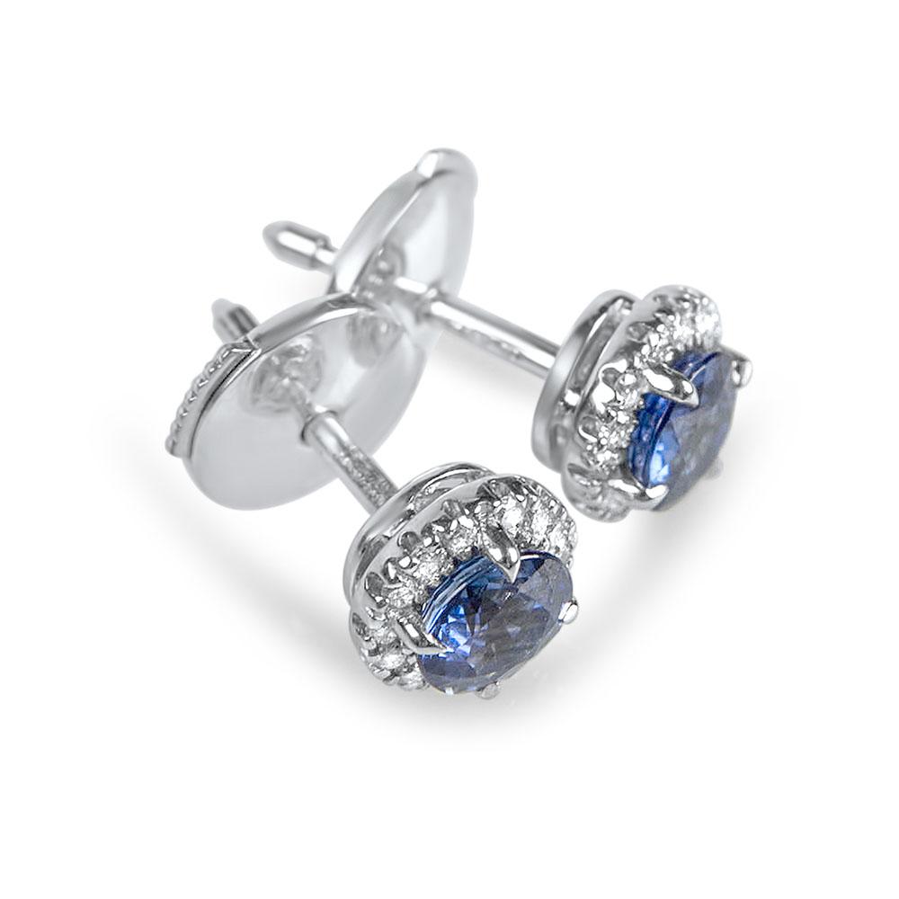 OCEANE - Boucles d'oreilles or, saphirs et diamants