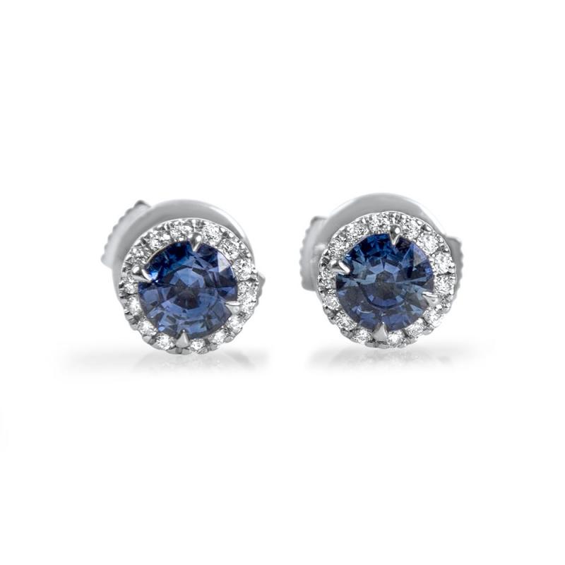 Unique Boucles d'oreilles en or Saphirs et Diamants - OCEANE OF36