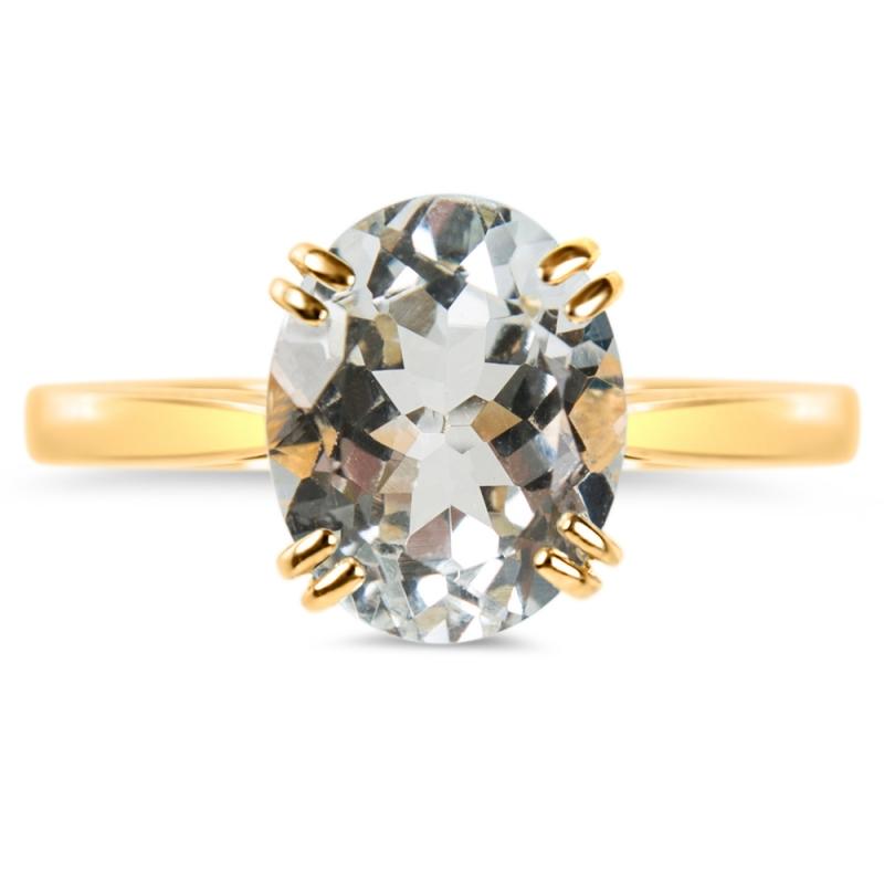 18k Yellow Gold Aquamarine ring , Ayana M