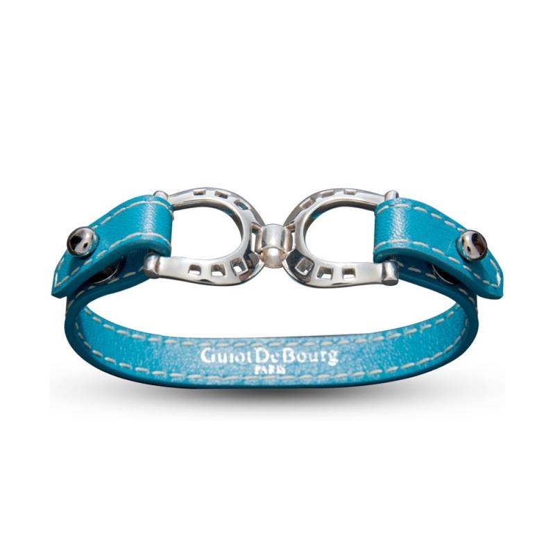 Bracelet en cuir, Argent , Gemini