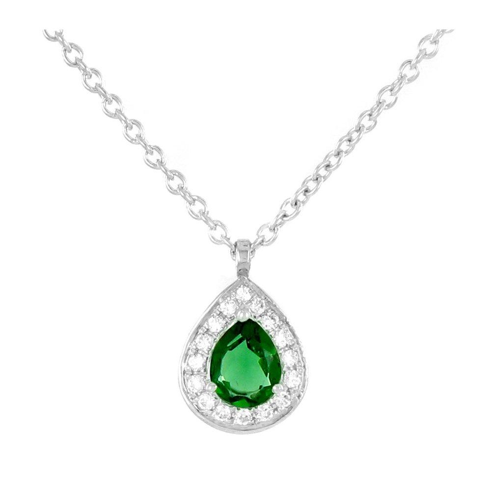 Athena - Collier or diamants et émeraude