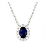 Hanae - Collier or diamants et saphir