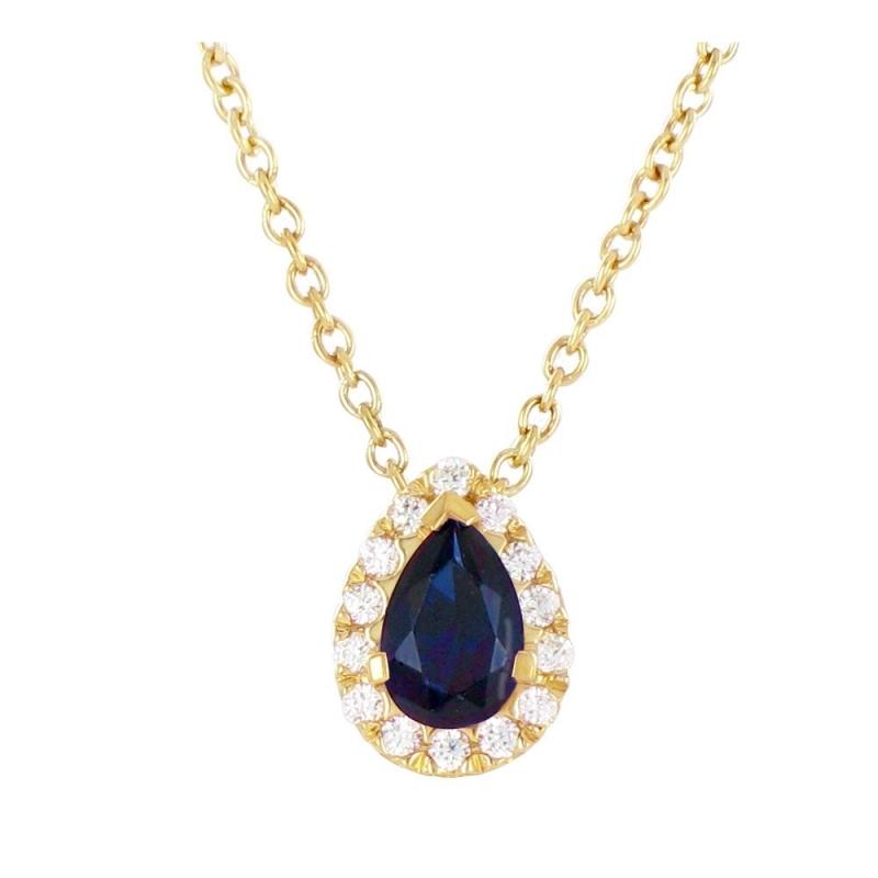 Collier or jaune, Saphir et Diamants , Chloé
