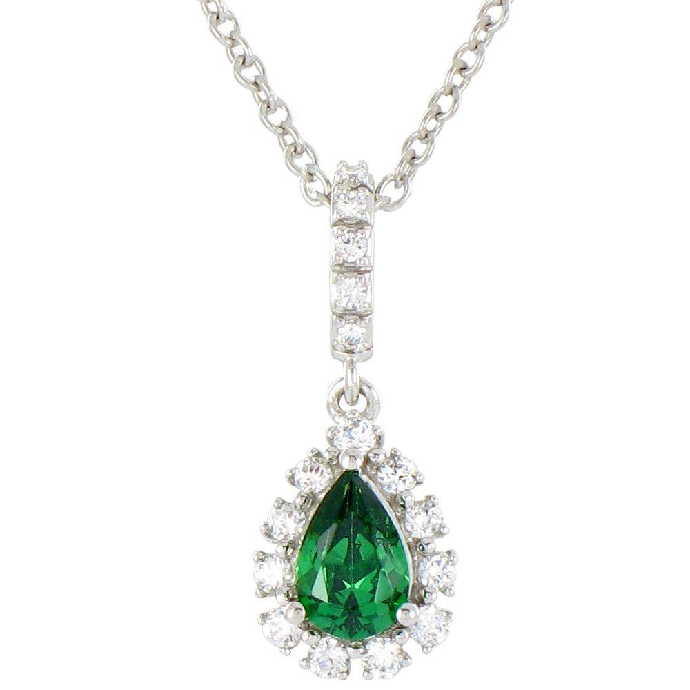 Idylle - Collier or diamants et émeraude