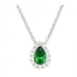 Gaïa - Collier or diamants et émeraude