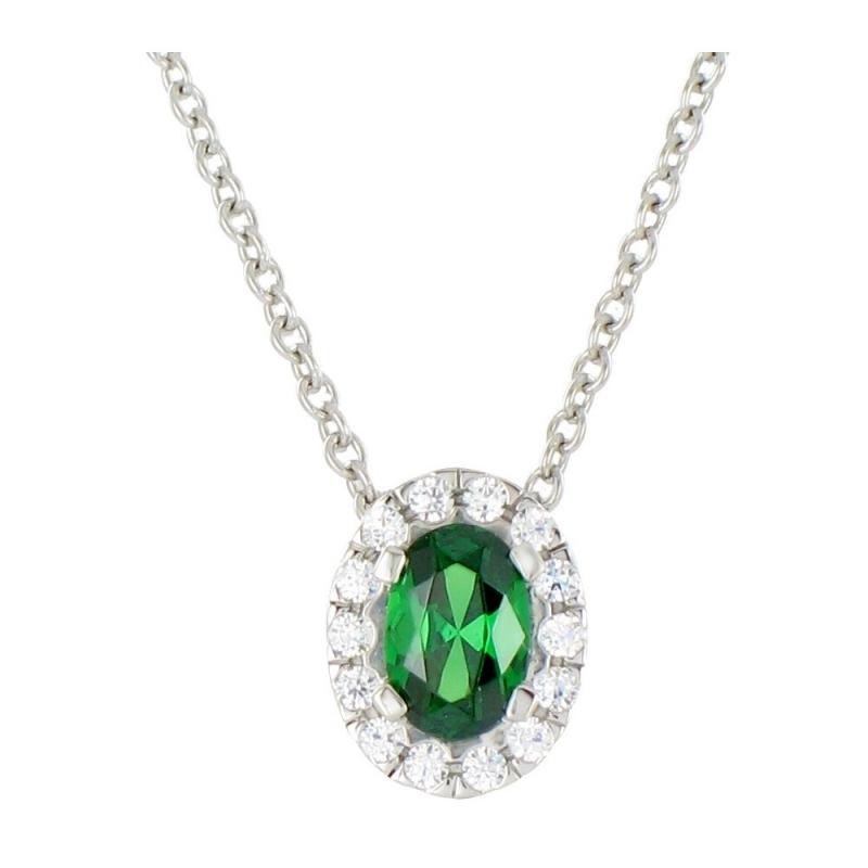 Collier en or, Emeraude et Diamants , Latina