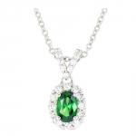 Esther - Collier or diamants et émeraude