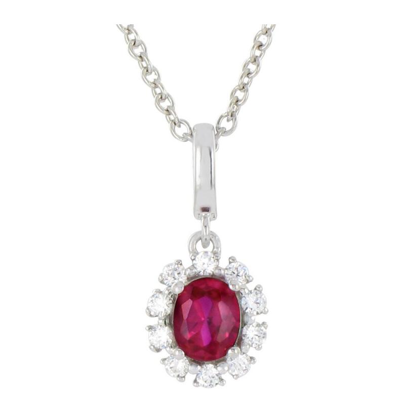 Collier or blanc, Rubis et Diamants , Ariane