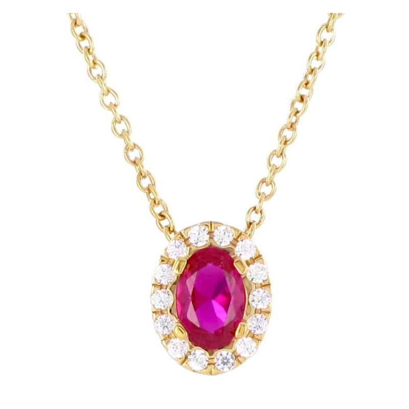 Collier or jaune, Rubis et Diamants , Marjorie