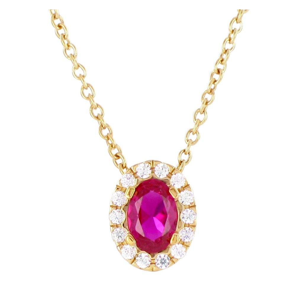 Marjorie - Collier or diamants et rubis