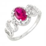 Vika bague or blanc 18 carats rubis et diamants Diveene joaillerie