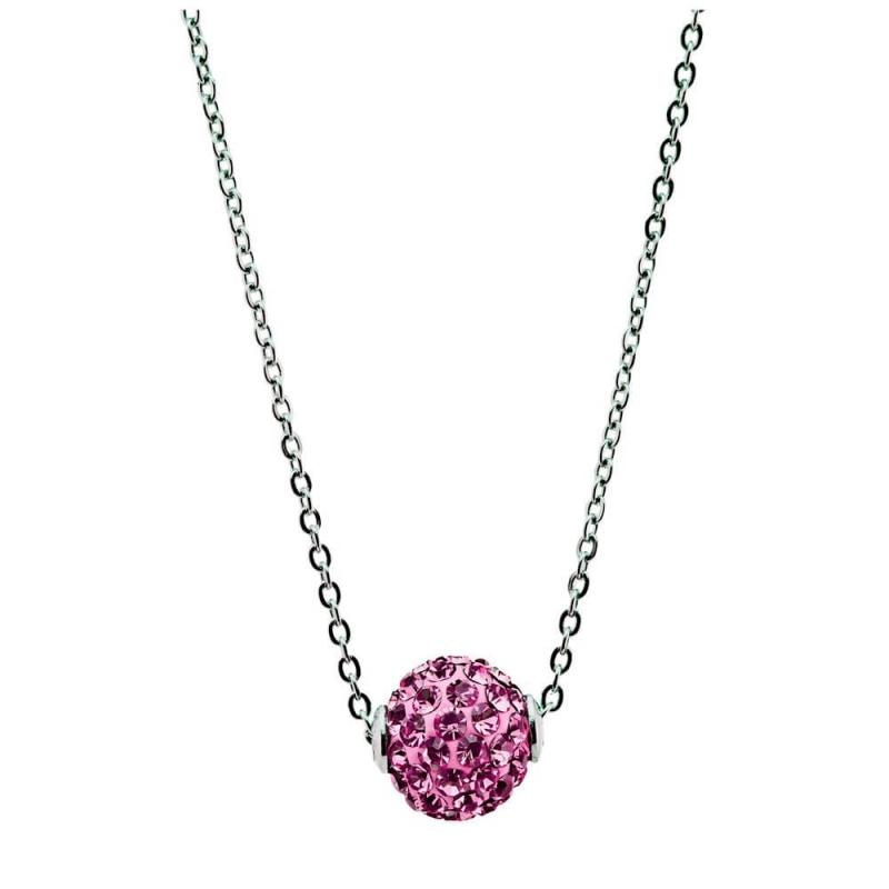 Collier argent, cristal Swarovski , Lady Glam Rose