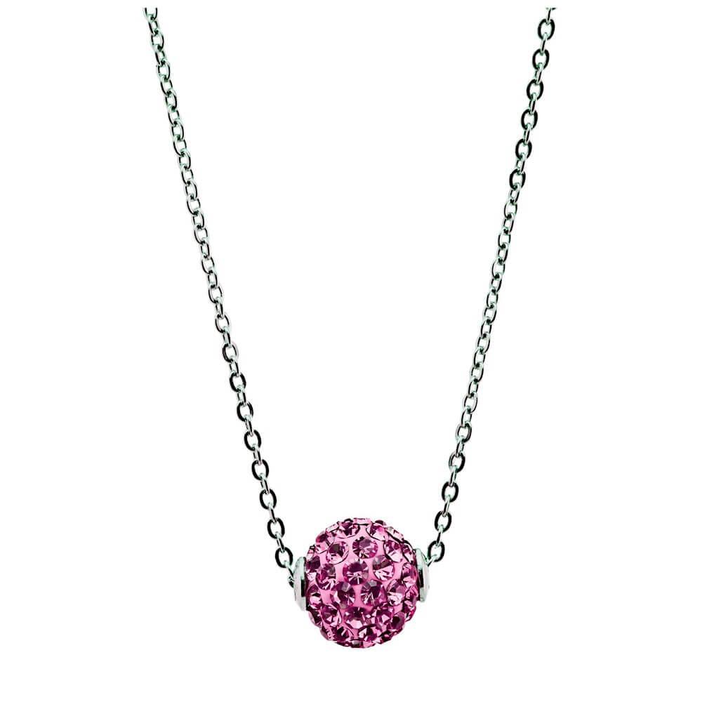 collier en argent et cristal swarovski lady glam diveene bijouterie