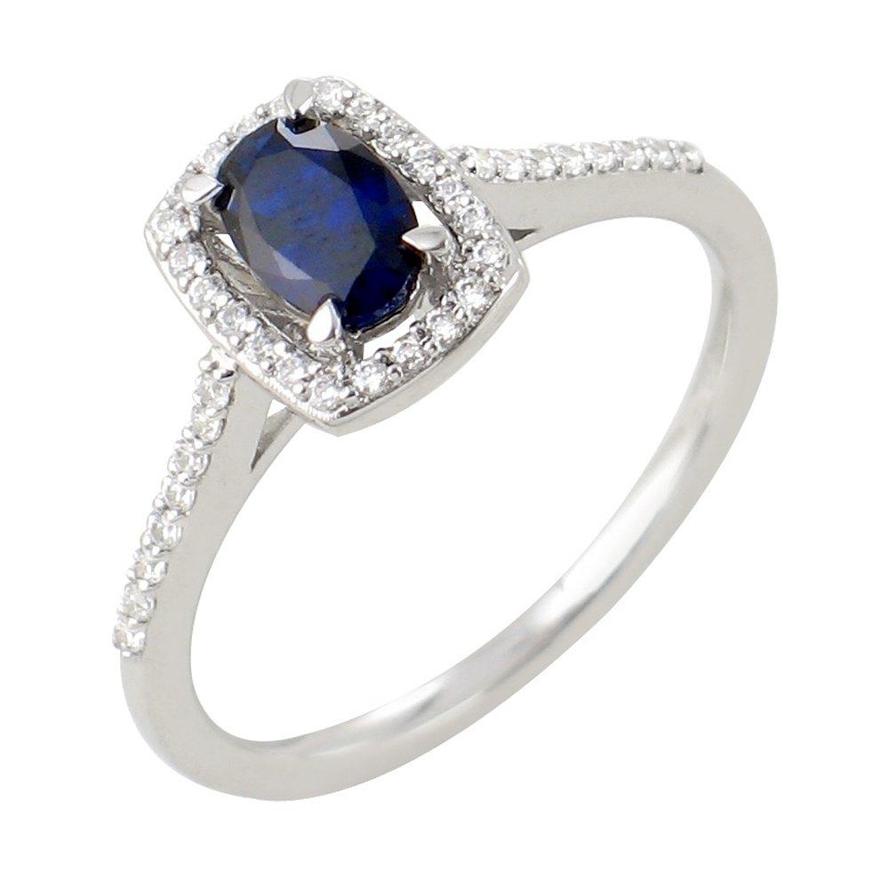 Astrid bague or blanc saphir et diamants Diveene joaillerie