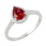 Freya bague or blanc 18 carats rubis et diamants Diveene joaillerie