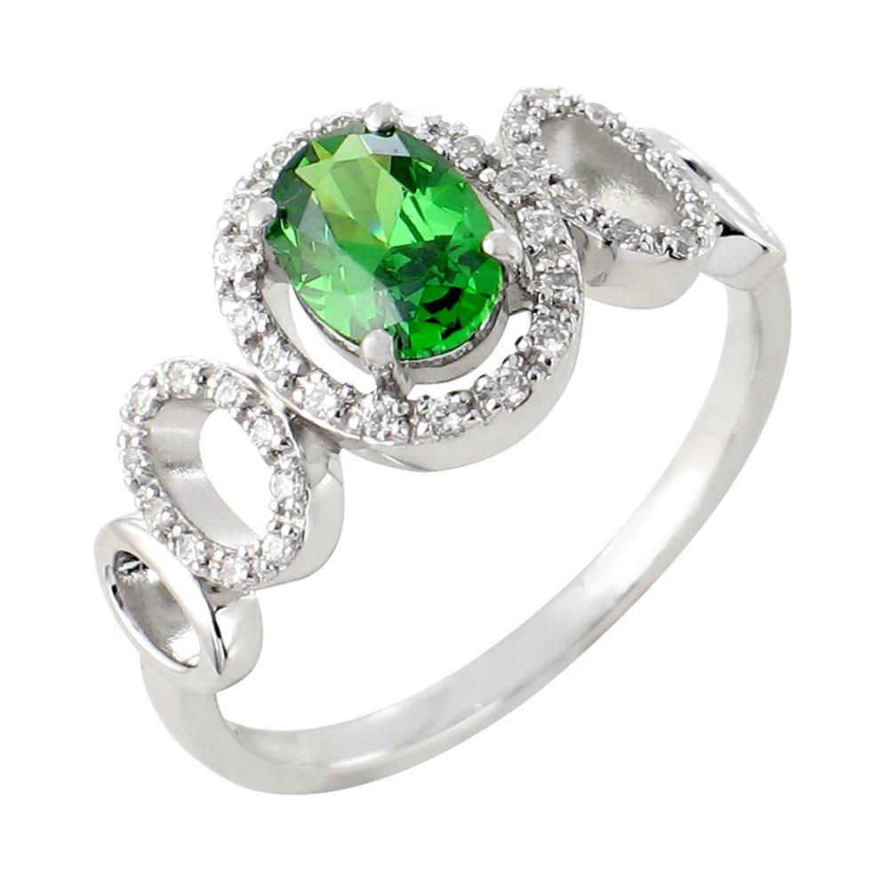 Lucinda bague or blanc 18 carats emeraude et diamants Diveene joaillerie