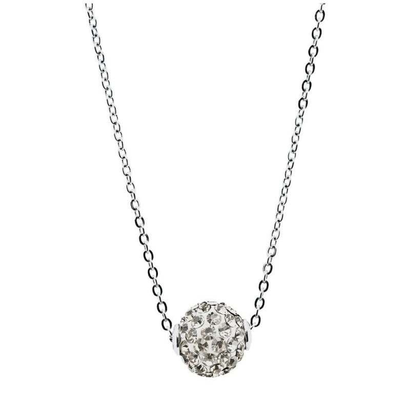 Collier argent, cristal Swarovski , Lady Glam Classic