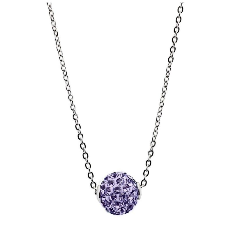 Collier argent, cristal Swarovski , Lady Glam Amethyst