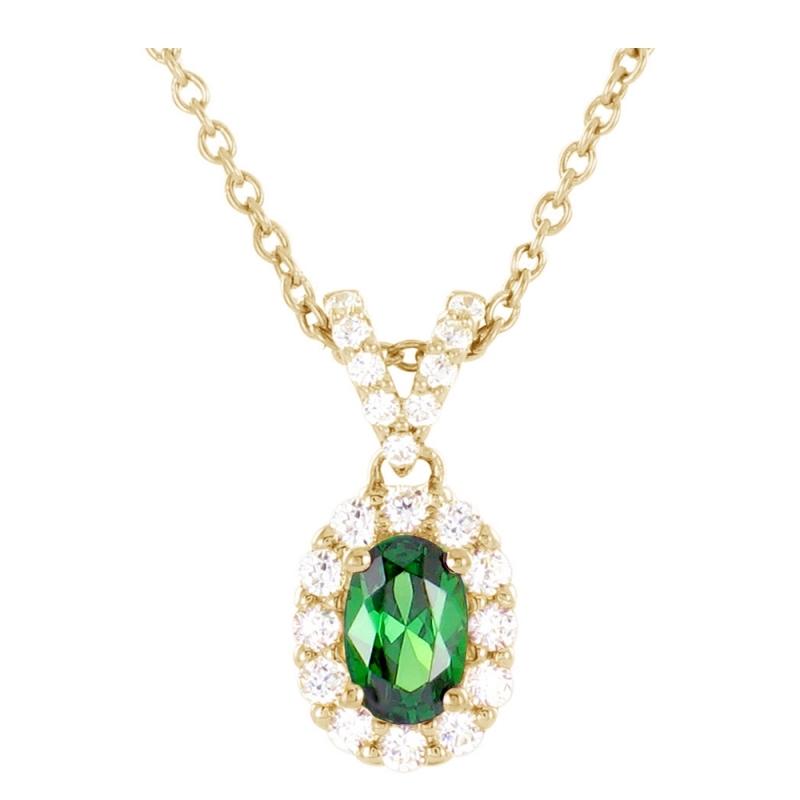 Collier or jaune, Emeraude et Diamants , Esther