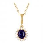 Anika - Collier or diamants et saphir