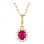 Ariane - Collier or diamants et rubis