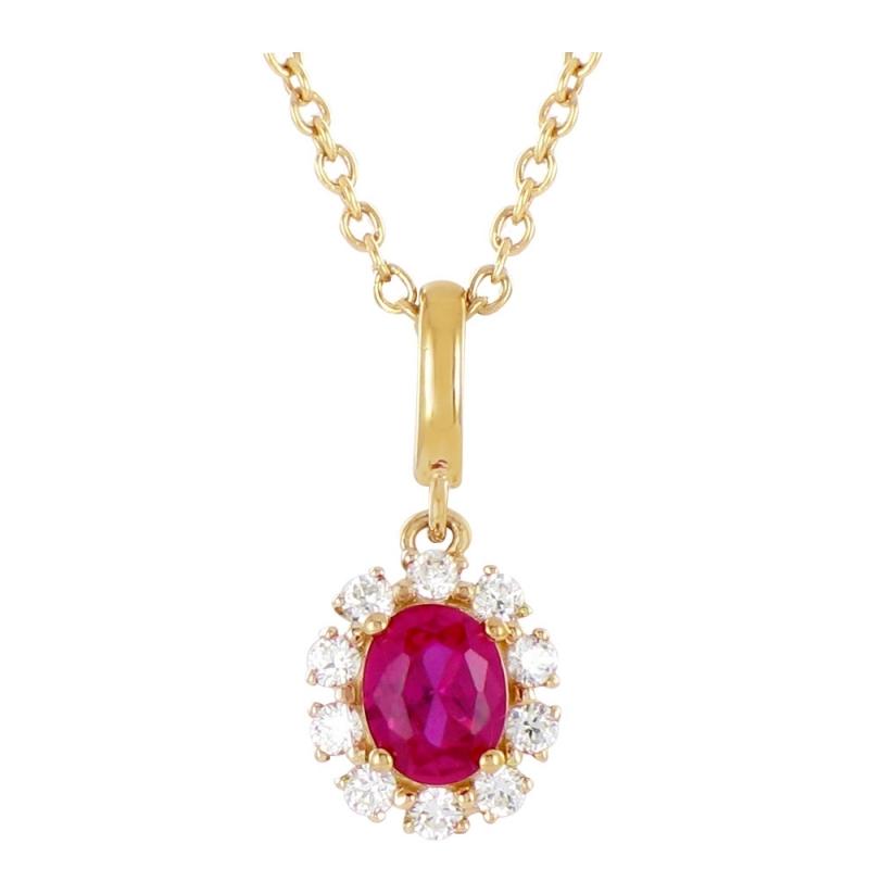 Collier or jaune, Rubis et Diamants , Ariane