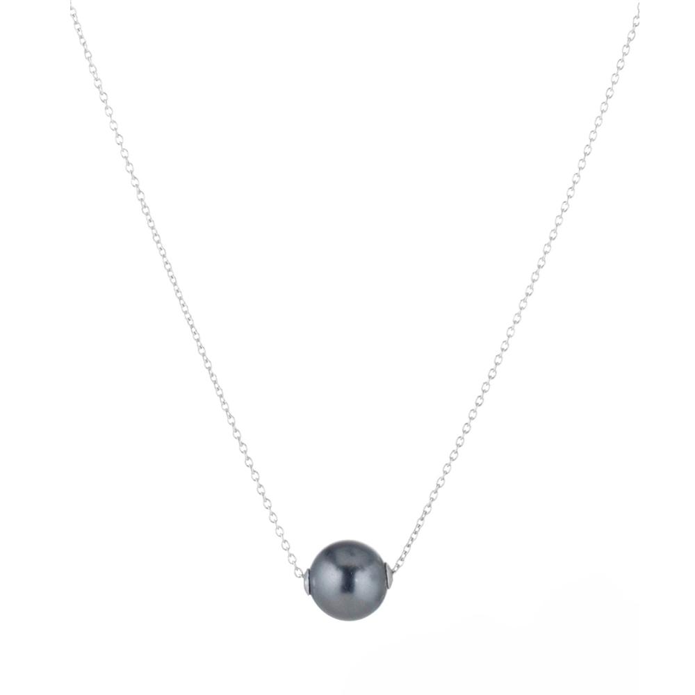 Collier argent et perle swarovski