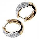 Celestes - Boucles d'oreilles or et diamants