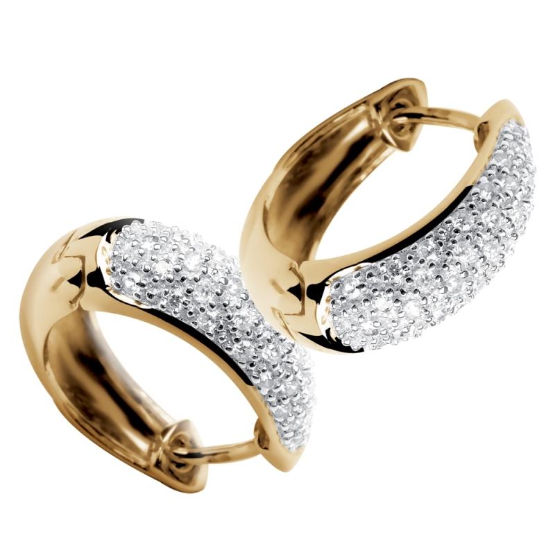 Boucles d'oreilles en or, Diamants , Celestes
