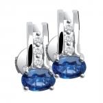 Blue moon - Boucles d'oreilles or, diamants et saphirs de Ceylan