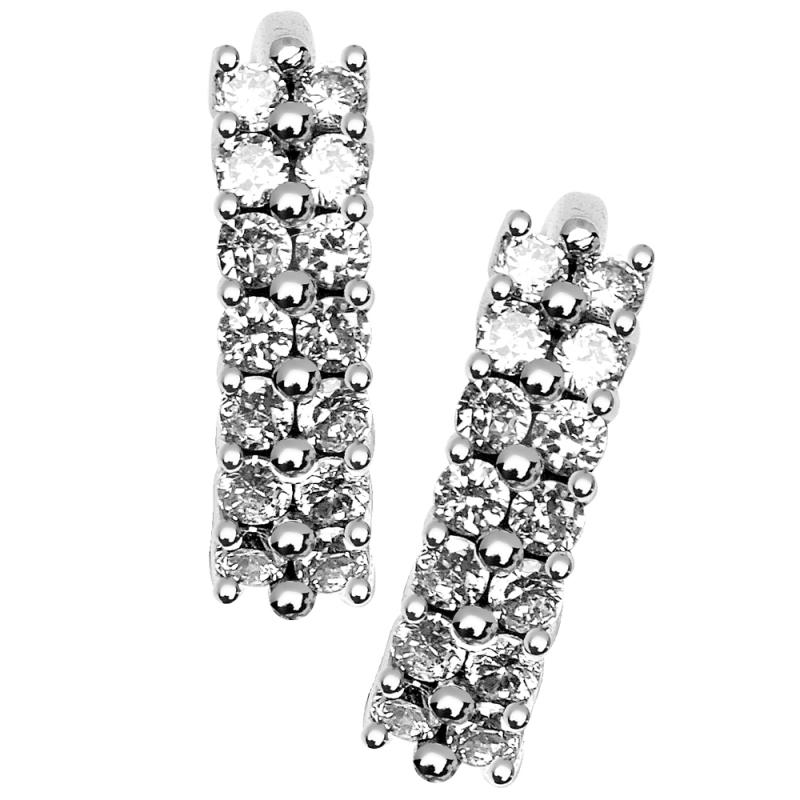 Boucles d'oreilles en or, Diamants , Elisa