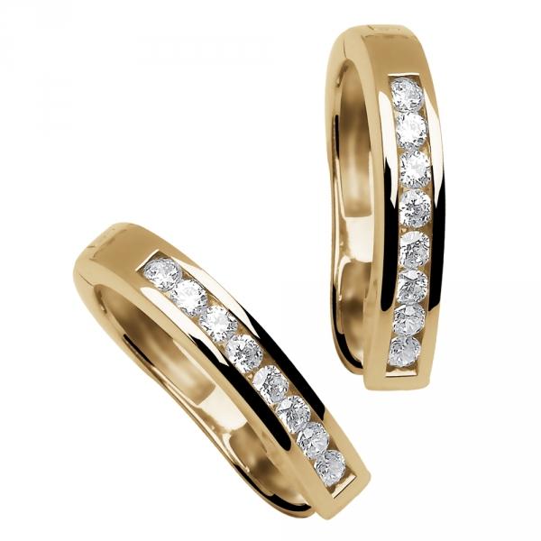 Salomée - Boucles d'oreilles or et diamants