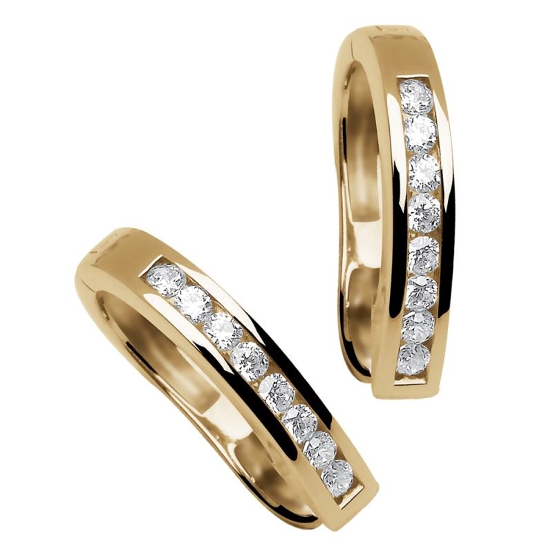 18k Yellow Gold Diamond Earrings, Salomée