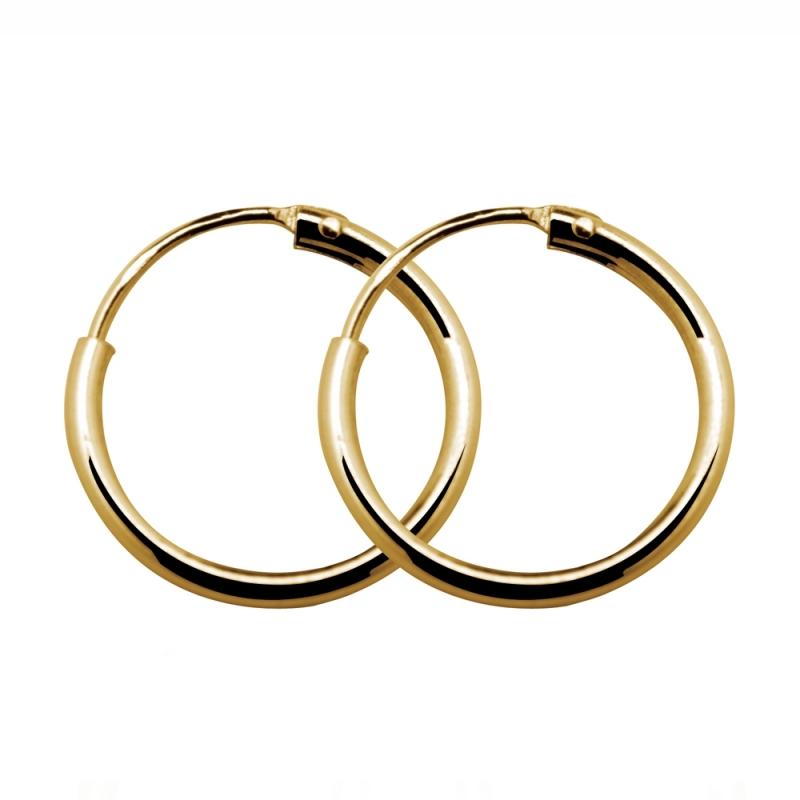 Boucles d'oreilles en or, Créoles Or jaune