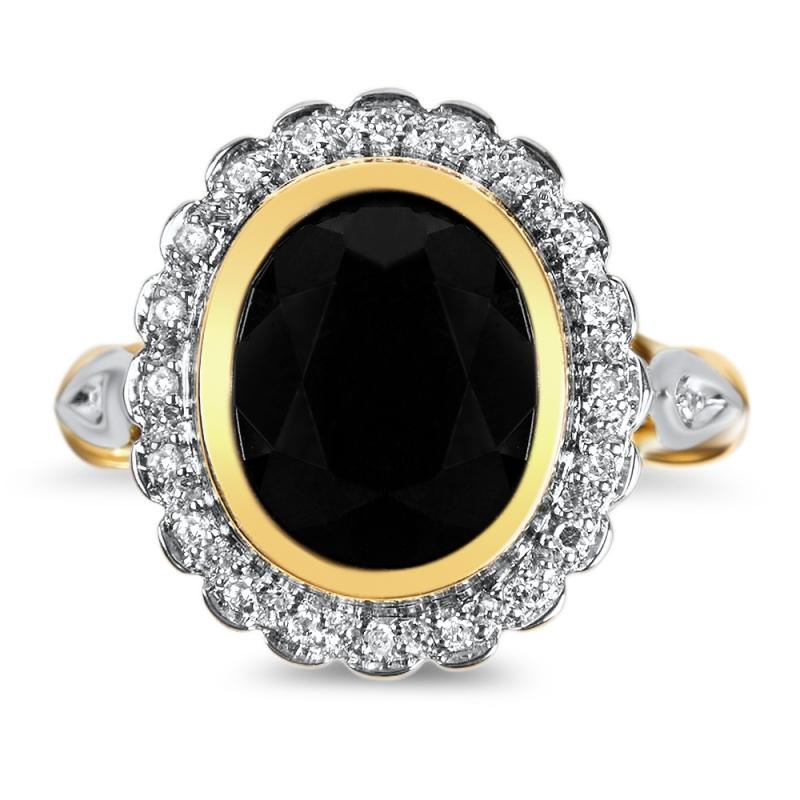 Bague en or, Saphir et Diamants , Comtesse