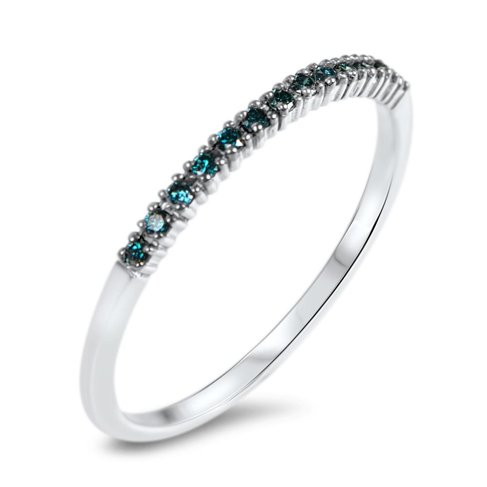 Curaçao Bague en or et diamants bleus Diveene joaillerie