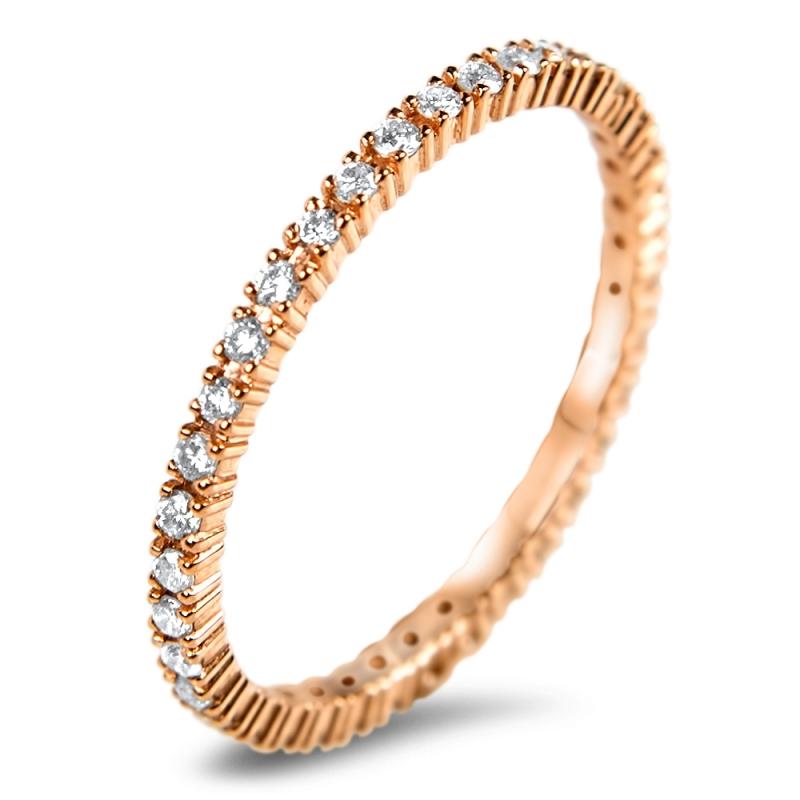 Bague alliance en or, Diamants , Pink Riviera