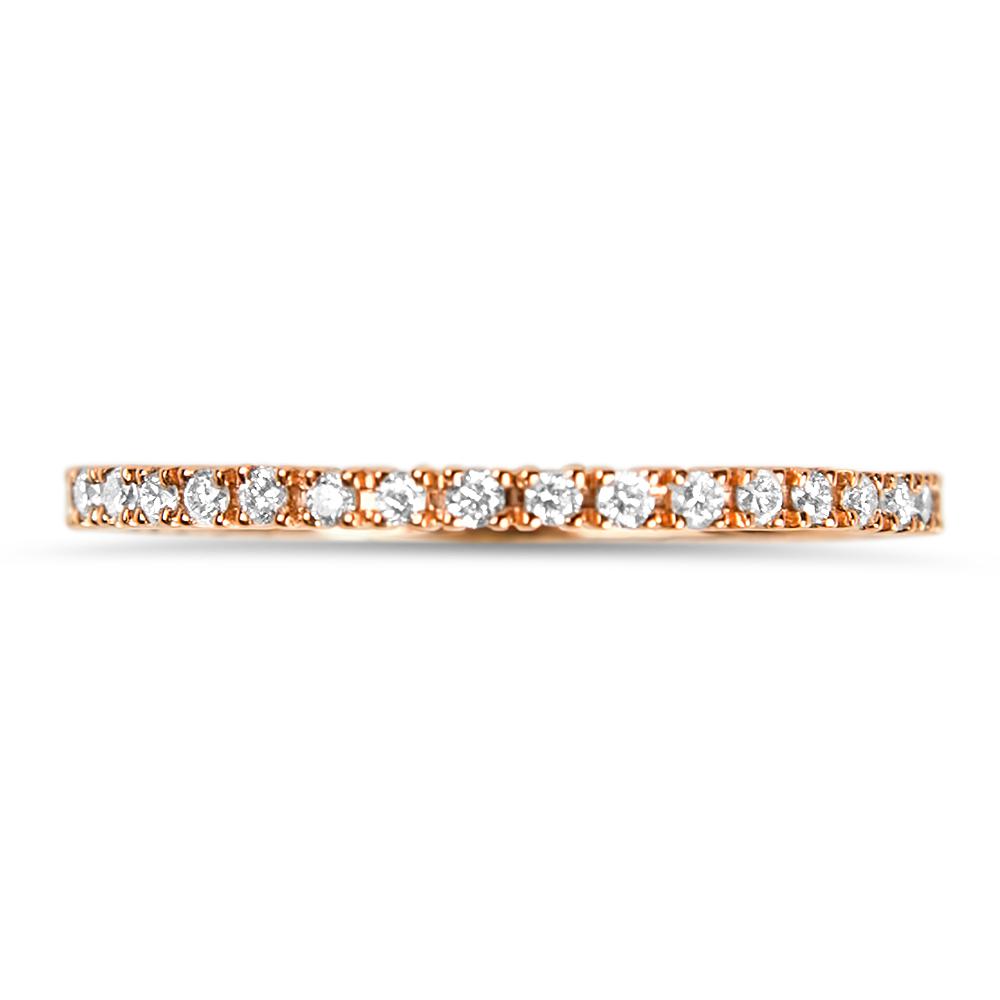 Pink Riviera Bague alliance Or rose et diamants Diveene joaillerie